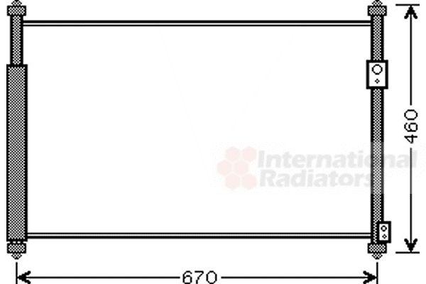 Condenseur, climatisation - VAN WEZEL - 52005108