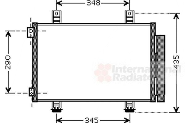 Condenseur, climatisation - VAN WEZEL - 52005116