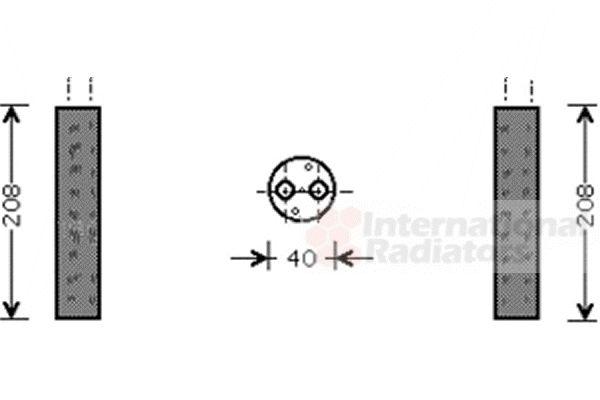 Filtre déshydratant, climatisation - VAN WEZEL - 5200D094