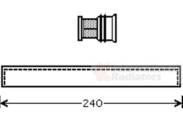 Filtre déshydratant, climatisation - VAN WEZEL - 5200D096