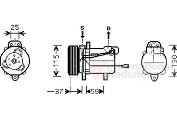 Compresseur, climatisation - VAN WEZEL - 5200K092
