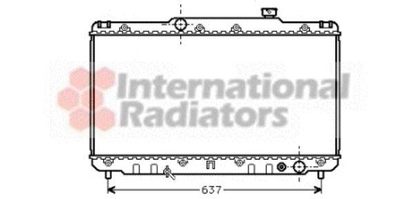 Radiateur, refroidissement du moteur - VAN WEZEL - 53002014