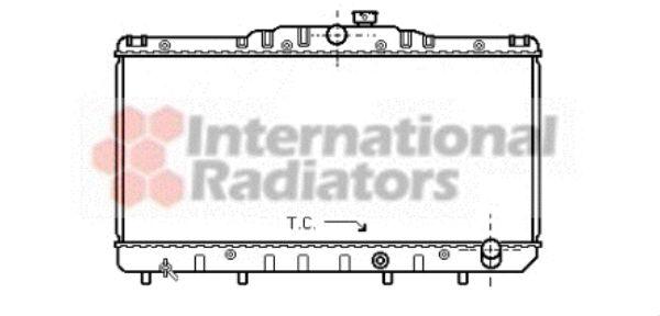 Radiateur, refroidissement du moteur - VAN WEZEL - 53002030