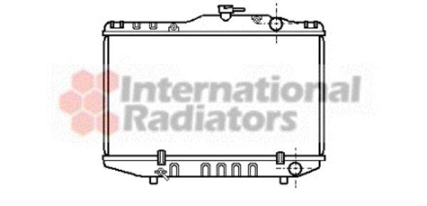 Radiateur, refroidissement du moteur - VAN WEZEL - 53002036