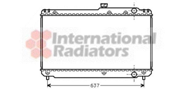 Radiateur, refroidissement du moteur - VAN WEZEL - 53002041
