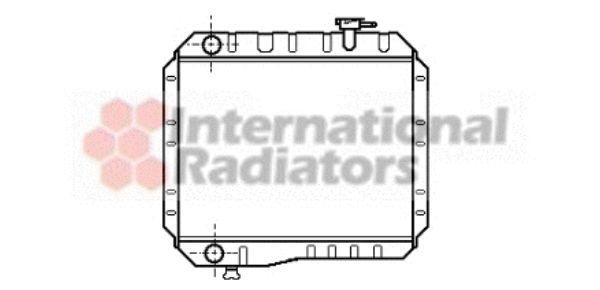Radiateur, refroidissement du moteur - VAN WEZEL - 53002042