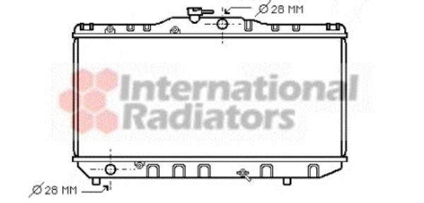 Radiateur, refroidissement du moteur - VAN WEZEL - 53002051