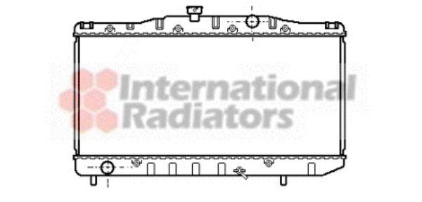 Radiateur, refroidissement du moteur - VAN WEZEL - 53002061