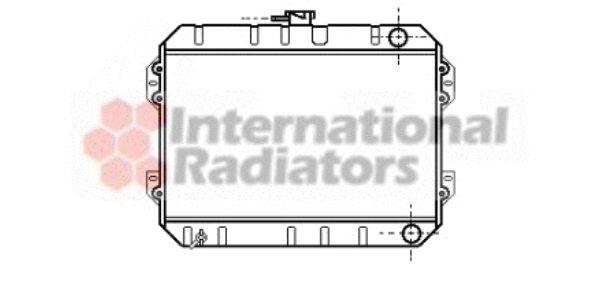 Radiateur, refroidissement du moteur - VAN WEZEL - 53002082