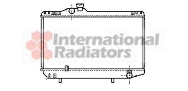 Radiateur, refroidissement du moteur - VAN WEZEL - 53002093
