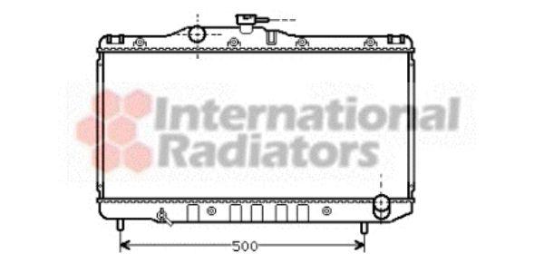 Radiateur, refroidissement du moteur - VAN WEZEL - 53002099