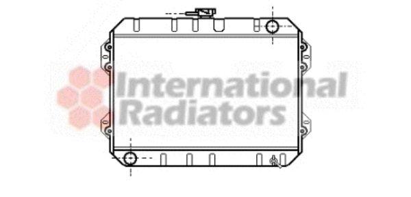 Radiateur, refroidissement du moteur - VAN WEZEL - 53002101