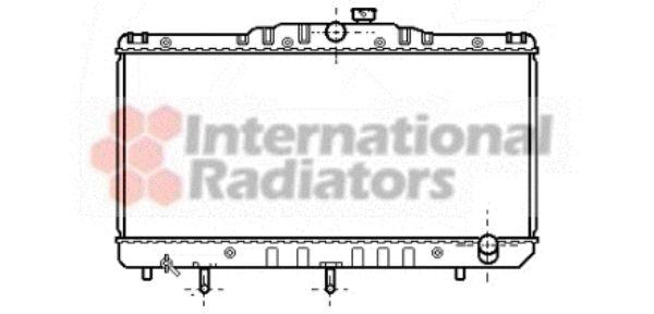 Radiateur, refroidissement du moteur - VAN WEZEL - 53002103