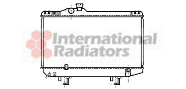 Radiateur, refroidissement du moteur - VAN WEZEL - 53002107