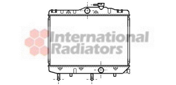 Radiateur, refroidissement du moteur - VAN WEZEL - 53002109