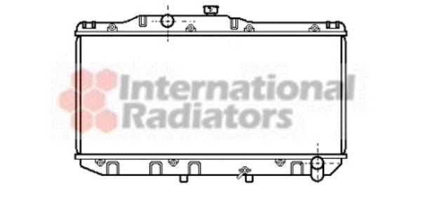 Radiateur, refroidissement du moteur - VAN WEZEL - 53002111