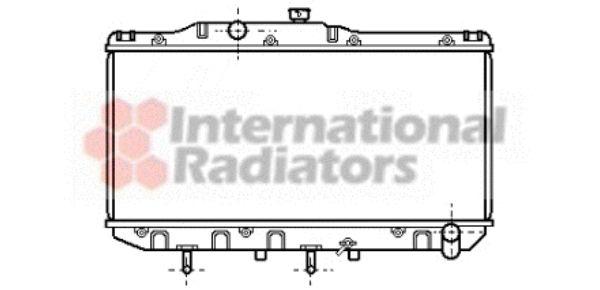 Radiateur, refroidissement du moteur - VAN WEZEL - 53002112