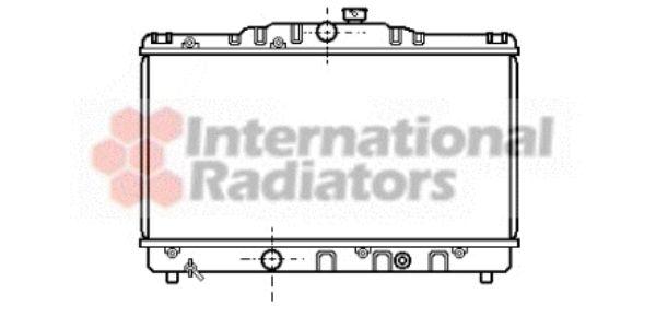 Radiateur, refroidissement du moteur - VAN WEZEL - 53002115
