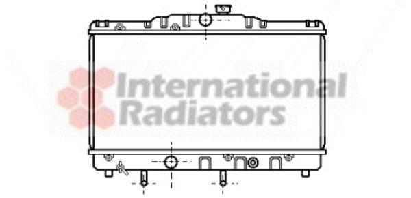 Radiateur, refroidissement du moteur - VAN WEZEL - 53002116