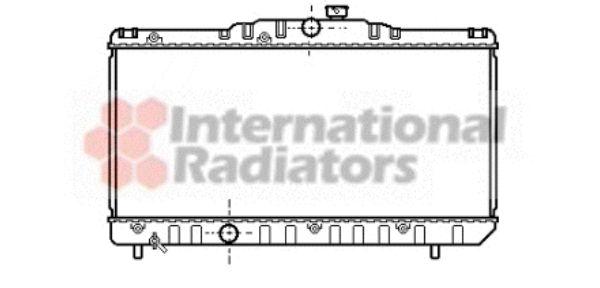 Radiateur, refroidissement du moteur - VAN WEZEL - 53002117