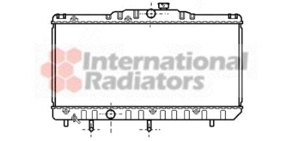 Radiateur, refroidissement du moteur - VAN WEZEL - 53002123