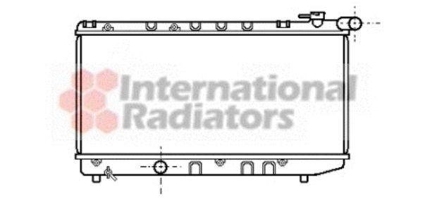Radiateur, refroidissement du moteur - VAN WEZEL - 53002124