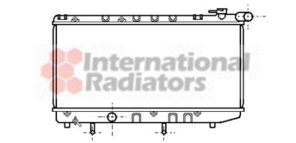 Radiateur, refroidissement du moteur - VAN WEZEL - 53002125