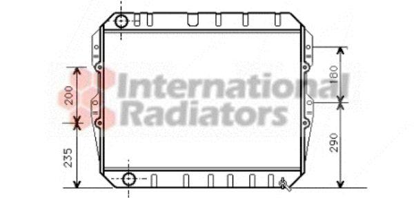 Radiateur, refroidissement du moteur - VWA - 88VWA53002134