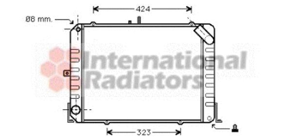 Radiateur, refroidissement du moteur - VAN WEZEL - 53002139