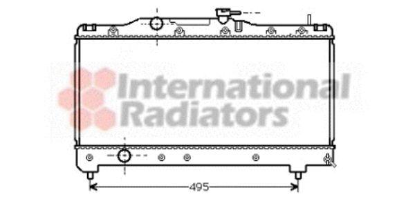 Radiateur, refroidissement du moteur - VAN WEZEL - 53002141