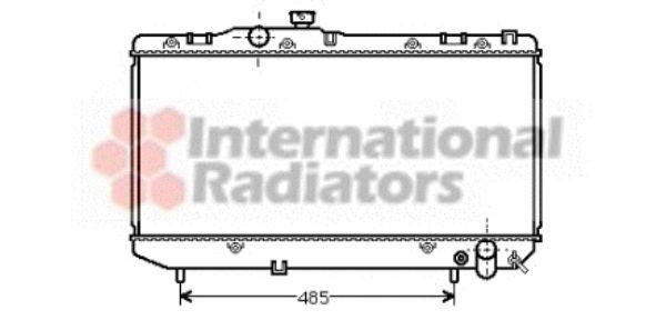 Radiateur, refroidissement du moteur - VAN WEZEL - 53002142