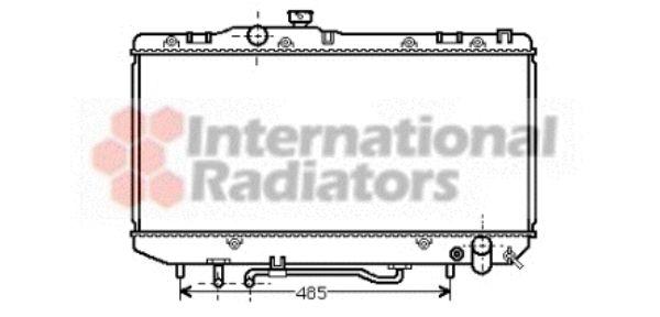 Radiateur, refroidissement du moteur - VAN WEZEL - 53002143