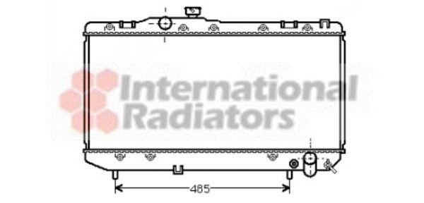 Radiateur, refroidissement du moteur - VAN WEZEL - 53002144