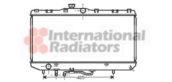 Radiateur, refroidissement du moteur - VAN WEZEL - 53002146