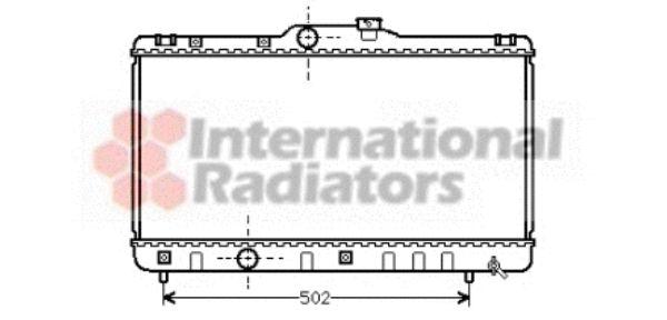 Radiateur, refroidissement du moteur - VAN WEZEL - 53002147