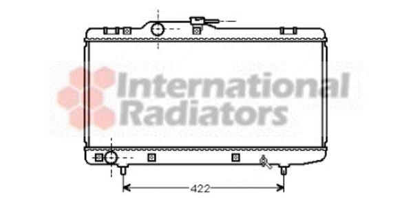 Radiateur, refroidissement du moteur - VAN WEZEL - 53002150