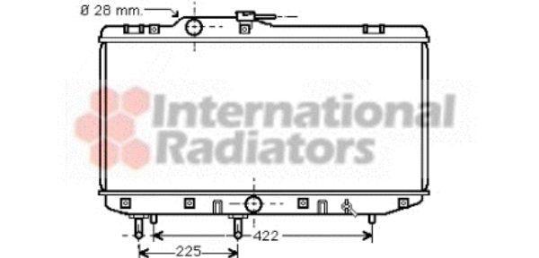 Radiateur, refroidissement du moteur - VAN WEZEL - 53002151