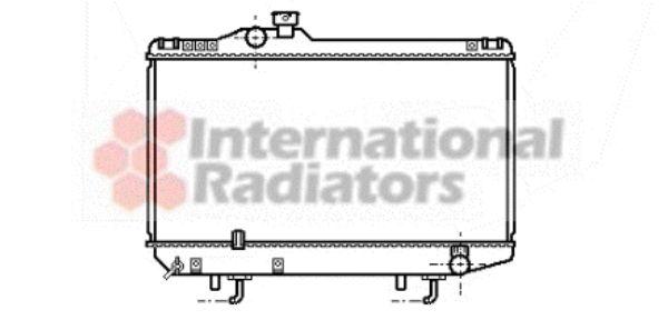 Radiateur, refroidissement du moteur - VAN WEZEL - 53002154