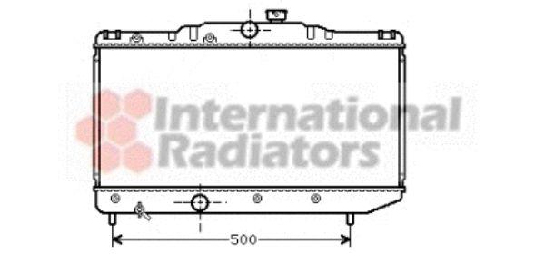 Radiateur, refroidissement du moteur - VAN WEZEL - 53002155