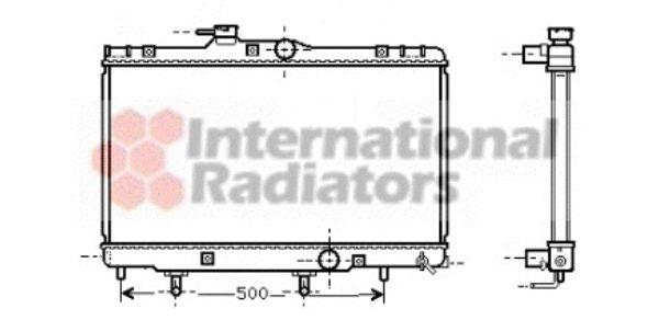 Radiateur, refroidissement du moteur - VAN WEZEL - 53002156