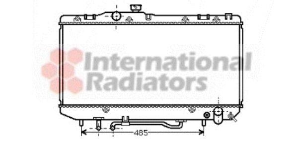 Radiateur, refroidissement du moteur - VAN WEZEL - 53002162