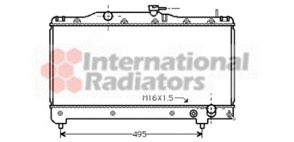 Radiateur, refroidissement du moteur - VAN WEZEL - 53002163