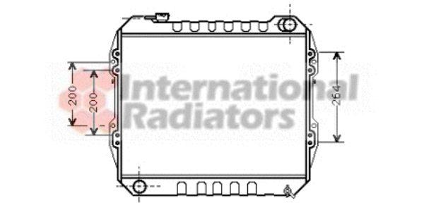 Radiateur, refroidissement du moteur - VAN WEZEL - 53002164