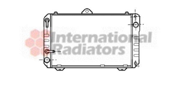 Radiateur, refroidissement du moteur - VAN WEZEL - 53002169