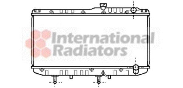 Radiateur, refroidissement du moteur - VAN WEZEL - 53002178