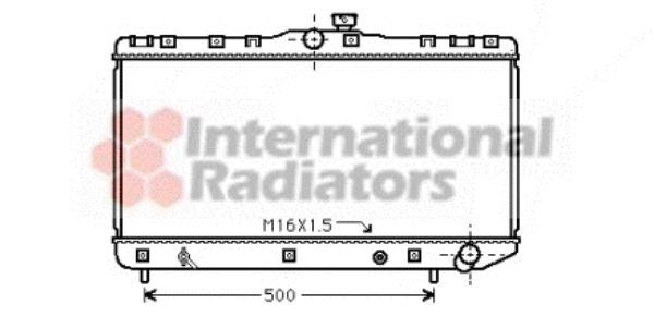Radiateur, refroidissement du moteur - VAN WEZEL - 53002181