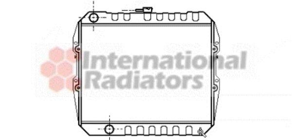 Radiateur, refroidissement du moteur - VAN WEZEL - 53002183