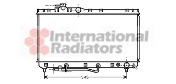 Radiateur, refroidissement du moteur - VAN WEZEL - 53002184