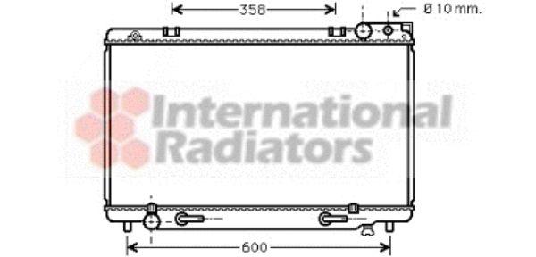 Radiateur, refroidissement du moteur - VAN WEZEL - 53002185