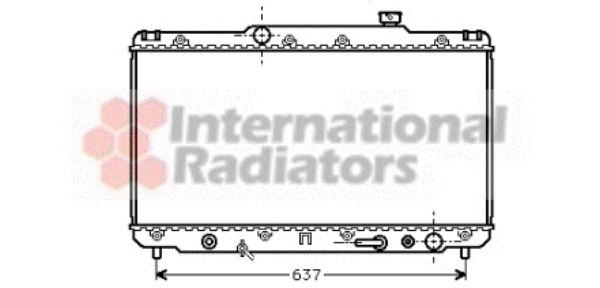Radiateur, refroidissement du moteur - VAN WEZEL - 53002186